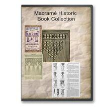 Macramé Instruction Cord Weaving, Bracelets, Beads - 7 Historic Books Cd - B513