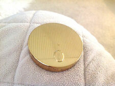 """Vintage Round METAL COTY  """"French Flair"""" Powder Compact Pre-owned"""