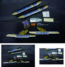 HONDA C70 C 70 DELUXE SIDE COVER GAS TANK DECAL STICKER EMBLEM SET
