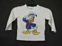 Gap Disney Boys Crew Neck Long Sleeve Donald Duck Straight Hem T-Shirt 3Y