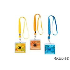 6 Pass Lanyards Assorted Colors FREE SHIP U.S. 1st Class - NEW