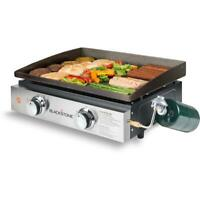 Portable 22 In Griddle BBQ Cooking Station Heavy-duty Cold-Rolled Steel Tabletop