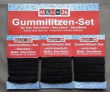 13m Gummilitze Gummiband Wäschegummi Nähen Unterwäsche 10/15/20mm breit schwarz