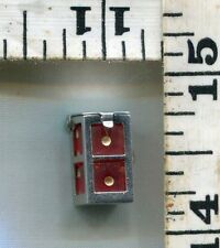 VINTAGE STERLING BRACELET CHARM~#85328~'40'S~PLAYABLE DICE IN CAGE~CHEAP AT $21!