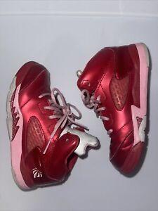 Nike Air Jordan 5 Retro Valentines Day Red Toddler Sneakers Size 10C 440890-605
