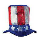 (12) Glitz 'N Gleam Uncle Sam Top Hat one size fits most
