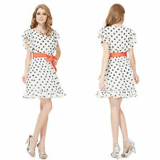 Ever-Pretty Chiffon Polka Dot Dresses for Women