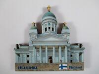Helsinki Dom Finlandia Madera Recuerdo Imán, Finlandia, Nuevo