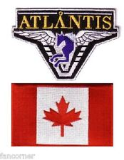 Stargate Atlantis 2 ecussons brodés equipe Canada Atlantis team canada patch