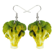Acrylic Green Broccoli Earrings Drop Dangle Unique Jewelry For Women Teens Charm