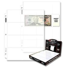 30 4 Pocket Pages for Regular Dollar Bills  Binder Sheets Currency Storage BCW