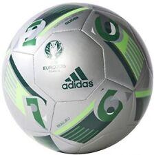 Adidas Euro 16 Glider Football - Silver Metallic/Green/Solar Green, Size 5