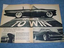 "1957 Ford Thunderbird Vintage Led Sled Article ""Built to Win"" Custom"