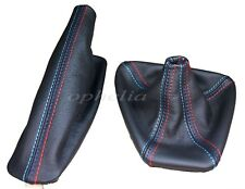 Bmw 3 Series E36 E46 Shift & E brake Boot Black Leather M3 /// Stitching