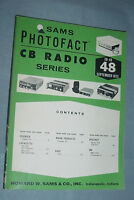 SAMS PHOTOFACT CB RADIO SERIES VOLUME #48 SEPTEMBER 1973 COURIER MARK PACE SBE