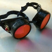 Steampunk goggles Victorian glasses novelty costume welding lens goth GGG -red