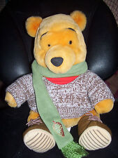 Winnie the Pooh Fall Brown Sweater Scarf Pine Cone Boots Disney Boys and Girls