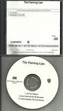 FLAMING LIPS 3 TRK Sampler w/ UNRELEASED KYLIE MINOGUE TRK PROMO DJ CD single