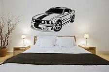 shelby mustang car v8 viper stripes wall art vinyl graphics boys cars bedroom
