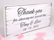 Personalised Vintage Wedding Sign Shabby but Chic Thank You For Sharing
