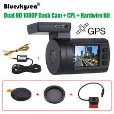 Blueskysea 0906 Dual 1080P Lens Car DVR GPS Dashcam Mini +CPL Lens +Hardwire Kit