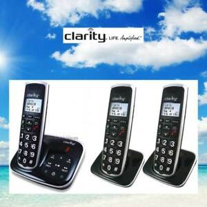 CLARITY BT914 BIG BUTTON AMPLIFIED LOUD CORDLESS BLUETOOTH/ANSWERING - 3 PHONES