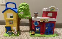 Fisher Price Little People Animal Rescue Fire Station Playset Sounds Work