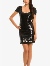 Guess By MARCIANO CANDICE Sequined Glam Elegant Party Cap Sleeve Sexy Dress XS