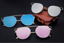Para Mujer Hombre Lentes espejados Unisex ojo de gato/Redondos Vintage Retro Anteojos de Sol