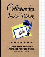 Calligraphy Practice Notebook Upper and Lowercase Calligraphy Alphabet for Lett