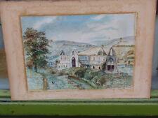 """Antico D.E. Roderick 1922 ORIGINALE """"Tintern Abby"""" dipinto ad Acquerello su carta"""