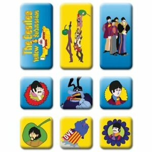 OFFICIAL LICENSED - THE BEATLES - YELLOW SUBMARINE SET OF 9 - FRIDGE MAGNET