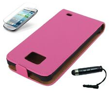 Custodia protettiva per Samsung Galaxy s2 i9100 + i9105 Custodia ECOPELLE FLIP CASE ROSA