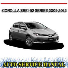 TOYOTA COROLLA ZRE152 SERIES 2009-2012 WORKSHOP SERVICE REPAIR MANUAL ~ DVD
