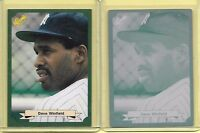 1 OF 1 DAVE WINFIELD 1987 CLASSIC PRINTING PLATE NY YANKEES VINTAGE CARD LOT 1/1