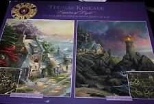 """Thomas Kinkade Jigsaw Puzzle Two Glow Puzzles in Box 20"""" x 16"""" Country  -FF-"""