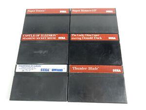 6 Stück Sega Master System - PAL - Spiele - lose Module
