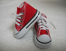 """Fits 16"""" Sasha & Gregor Doll - Bright Red High Top Sneakers - Shoes - D1304"""