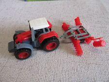 Farmer car roter Trecker mit Ringelwalze ca. 14 cm lang mit  OVP Neu