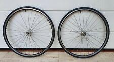 wheelset MAVIC CAMPAGNOLO RECORD TITANIUM 9 10 11 sp. italian road bike VGC
