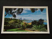 PERTH WESTERN AUSTRALIA KINGS PARK VIEW OF PERTH AND SWAN RIVER 2001 POSTCARD