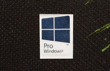 Microsoft Windows 8 Pro Genuine Stickers 16mm x 22mm Blue Metallic U.S.A Seller!