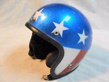 Vintage RN 45571 Stars & Stripes Easy Rider Motorcycle Helmet sz Medium