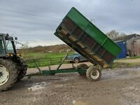 6 TON ISH FARM TIPPING TRAILER FOR EQUESTRIAN USE SMALL HOLDING FOR TRACTOR