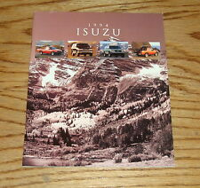 Original 1994 Isuzu Full Line Sales Brochure 94 Trooper Rodeo Pickup