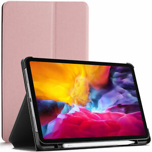 Apple iPad Pro 11 2020 Case, Smart Cover - Rose + Stylus Screen Protector