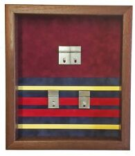 Large Double Regimental Double Medal Display Case.