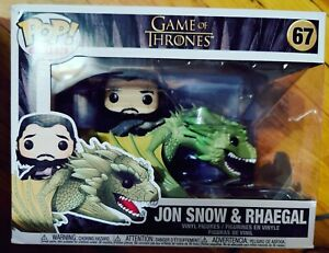 GAME OF THRONES Jon Snow & Rhaegal Dragon POP! Ride Vinyl Figure Funko