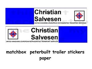 MATCHBOX SUPER KINGS TRAILER STICKER  christian
