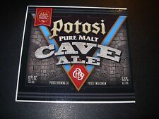 POTOSI Pure Malt Cave Ale Wisconsin Sticker craft beer brewery brewing